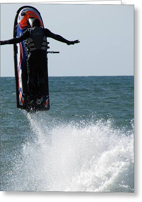 Greeting Card featuring the photograph Jet Ski by John Crothers