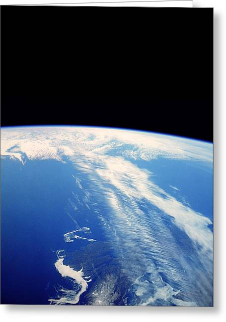 Jet Stream Clouds Greeting Card by Nasa
