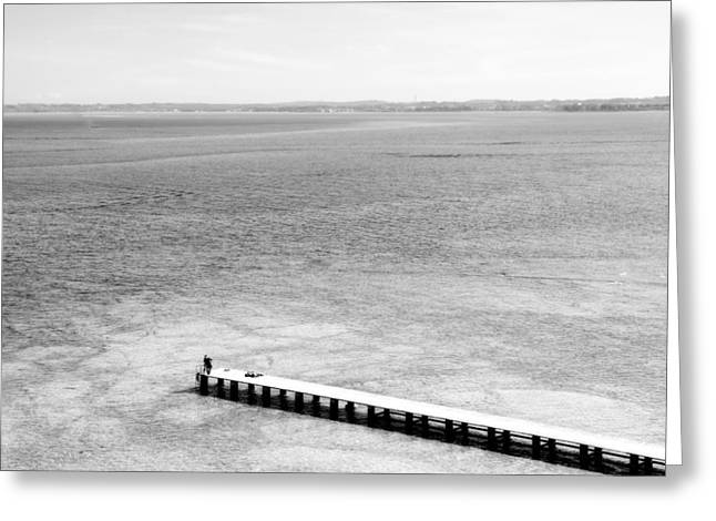 Jetty In A Lake Greeting Card