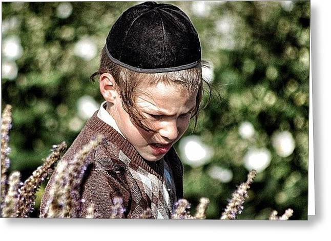 Jewish Boy - New York Greeting Card