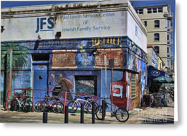Jewish Family Center Greeting Card by Chuck Kuhn