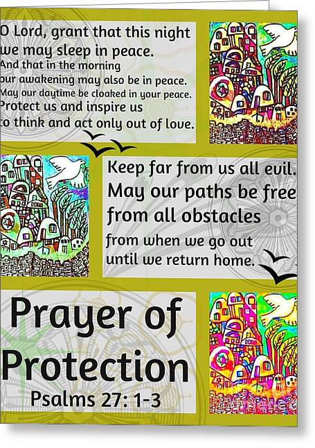 Jewish Prayer Of Protection City Of Jerusalem Gold Greeting Card