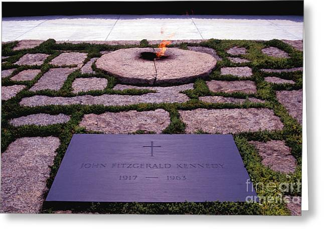 Jfk - Eternal Flame Greeting Card by Paul W Faust -  Impressions of Light