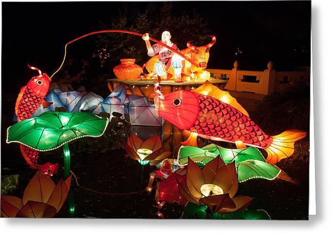 Jiang Tai Gong Fishing Greeting Card by Semmick Photo