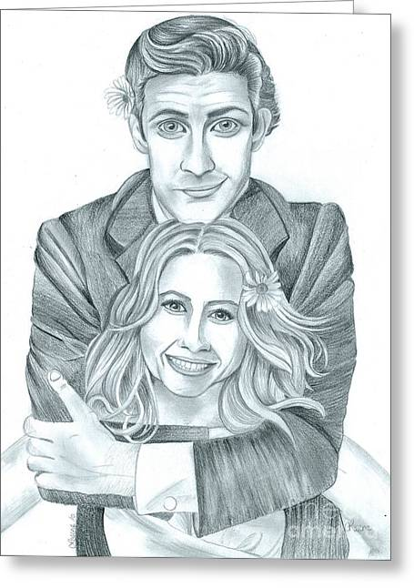 Jim And Pam Greeting Card