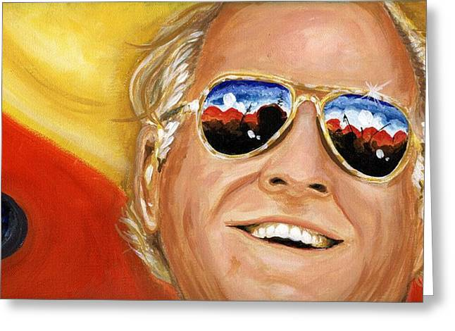 Jimmy Buffet At The Jazz Fest Greeting Card by Terry J Marks Sr