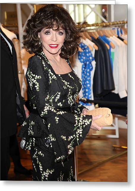 Joan Collins Greeting Card by Jez C Self