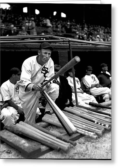 Joe Chamberlain - Chicago White Sox Greeting Card by David Bearden