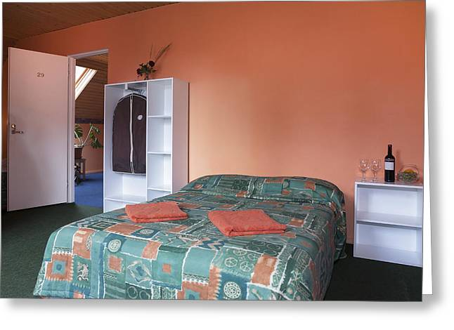 Jogeva County A Double Bed In A Bedroom Greeting Card by Jaak Nilson