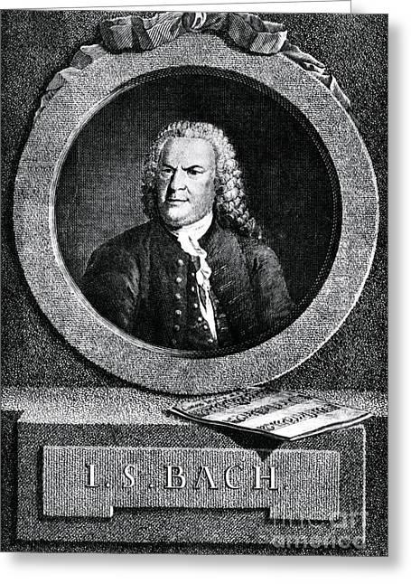 Johann Sebastian Bach 1685-1750 Greeting Card by Omikron