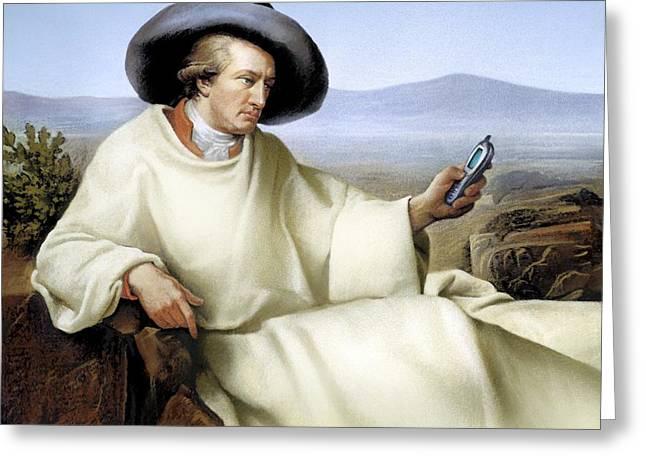 Johann Von Goethe, German Author Greeting Card by Smetek