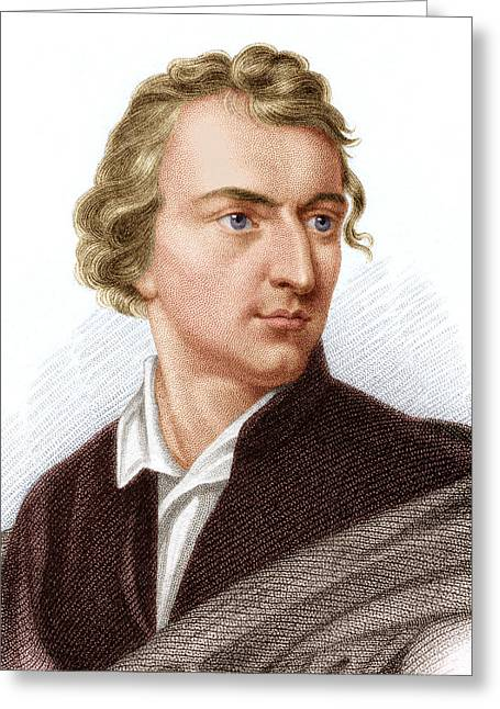 Johann Von Schiller, German Poet Greeting Card by Sheila Terry