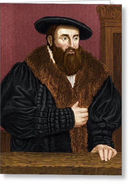 Johannes Kepler, German Astronomer Greeting Card by Maria Platt-evans