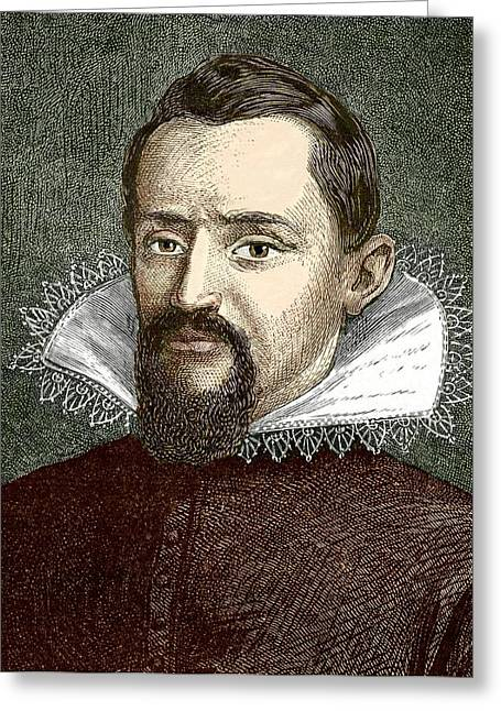 Johannes Kepler, German Astronomer Greeting Card by Sheila Terry