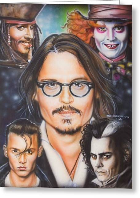 Johhny Depp Greeting Card