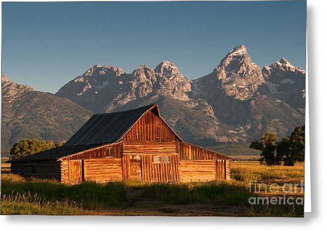 John And Bartha Moulton Barn Greeting Card by Stuart Wilson and Photo Researchers