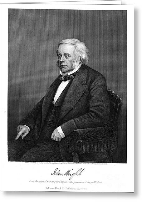 John Bright (1811-1889) Greeting Card by Granger