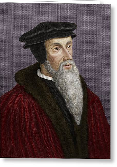 John Calvin, French Theologian Greeting Card