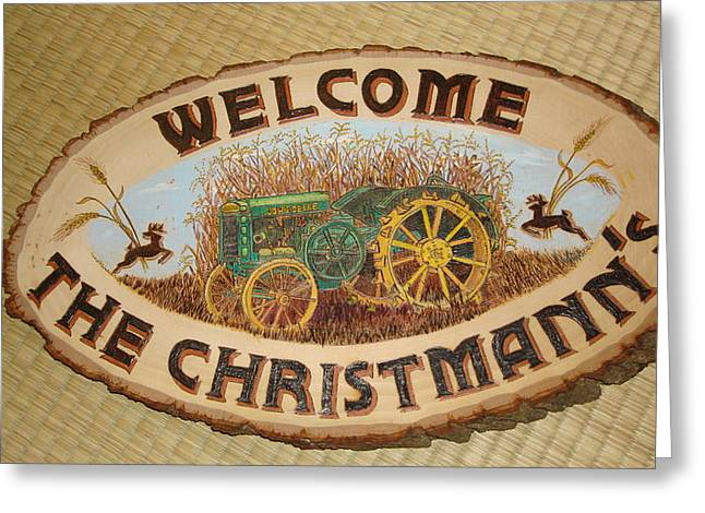 John Deere Greeting Card by Dakota Sage