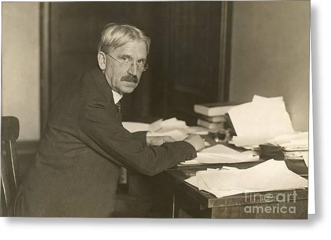 John Dewey, American Philosopher Greeting Card by Photo Researchers