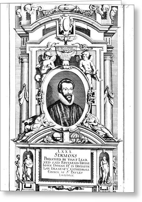 John Donne (1573-1631) Greeting Card by Granger
