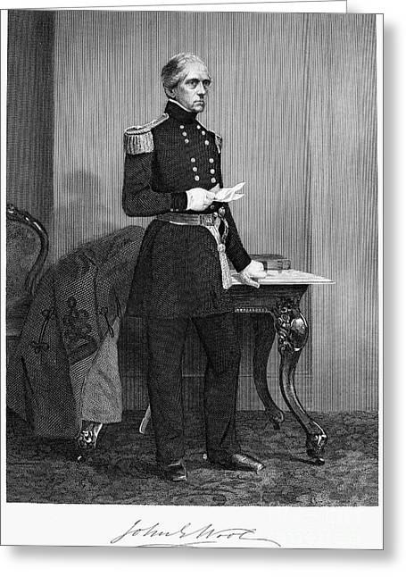 John Ellis Wool (1784-1869) Greeting Card by Granger