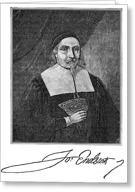 John Endecott (1589-1665) Greeting Card by Granger