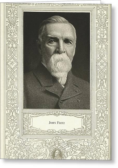 John Fritz, American Mechanical Engineer Greeting Card