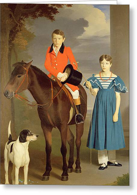 John Gubbins Newton And His Sister Mary Greeting Card