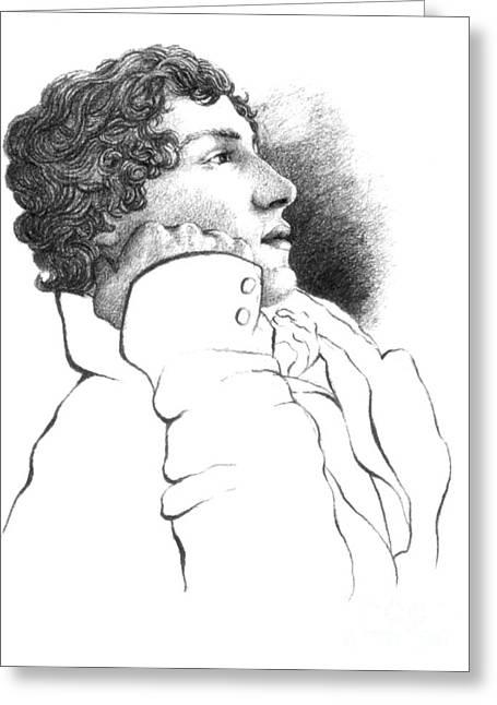 John Keats, English Romantic Poet Greeting Card by Photo Researchers
