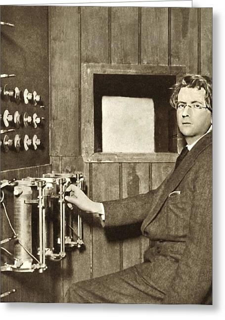 John Logie Baird, Scottish Engineer Greeting Card