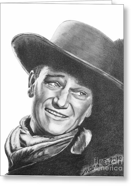 John Wayne   Dreamer Greeting Card by Marianne NANA Betts