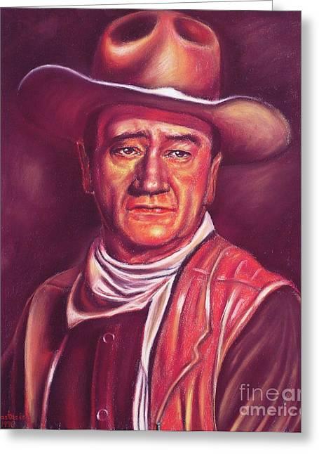 John Wayne Greeting Card by Anastasis  Anastasi