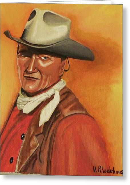 John Wayne Greeting Card by Victoria Rhodehouse