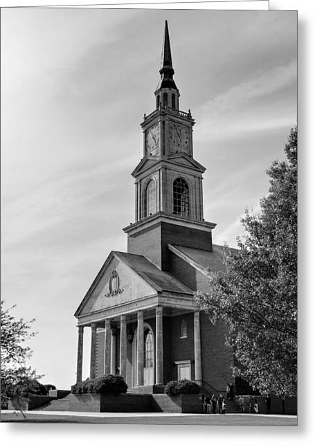 John Wesley Raley Chapel Black And White Greeting Card by Ricky Barnard