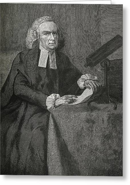 John Winthrop, Us Astronomer Greeting Card by Science, Industry & Business Librarynew York Public Library