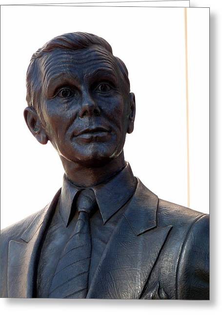 Johnny Carson Greeting Card by Jeff Lowe