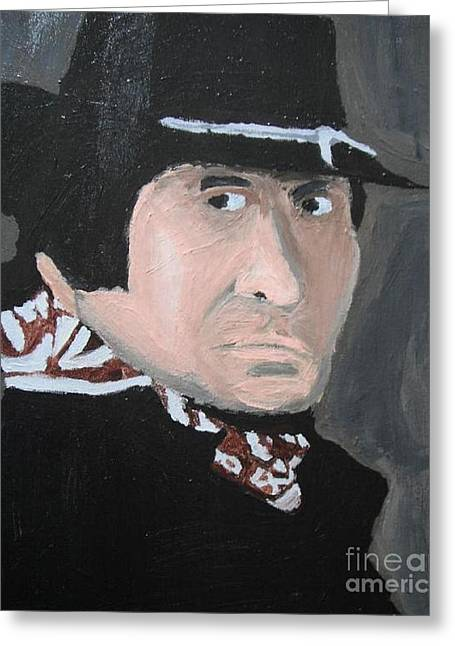Johnny Cash Man In Black Greeting Card by Jeannie Atwater Jordan Allen