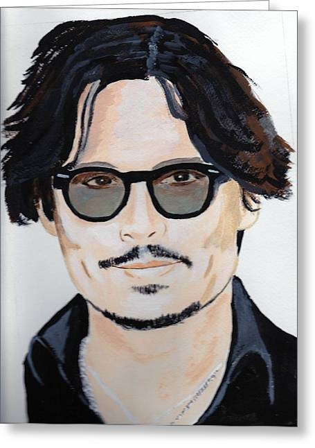 Johnny Depp 4 Greeting Card