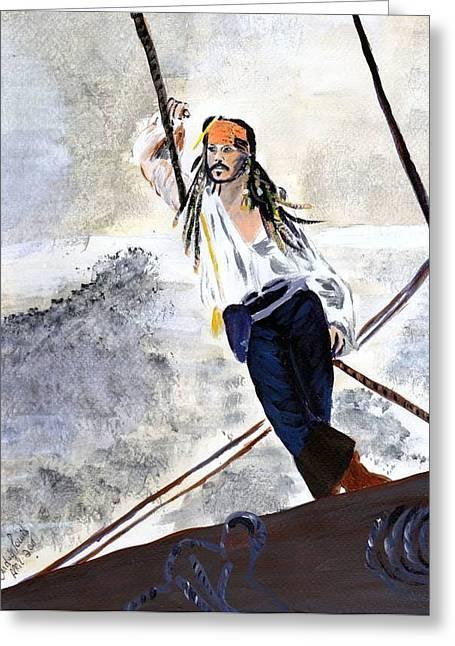 Johnny Depp 8 Greeting Card