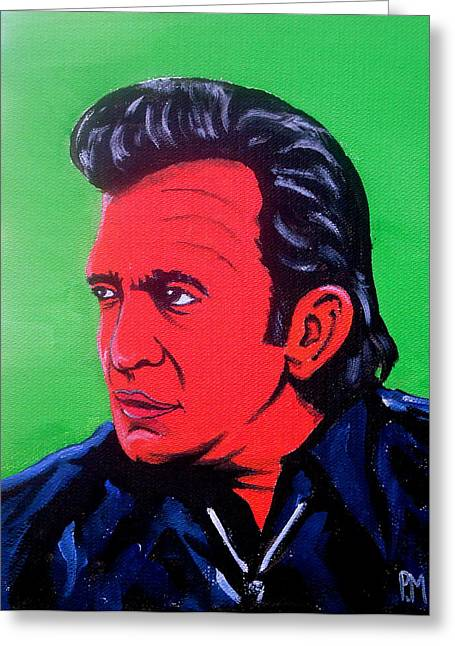 Johnny Pop Greeting Card by Pete Maier