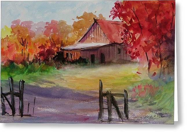 John's Barn Greeting Card by Heidi Patricio-Nadon