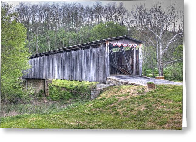 Johnson Creek Covered Bridge Greeting Card