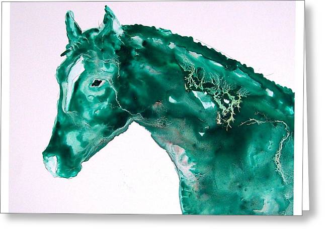 Joker - Study In Green Greeting Card by Sue Prideaux