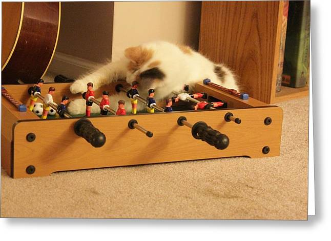 Jolie-boo Foosball Greeting Card