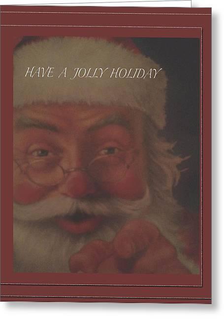 Jolly Santa Card Greeting Card