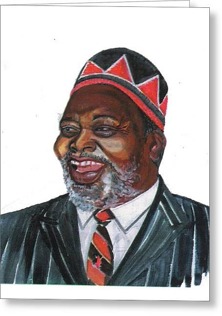Jomo Kenyatta Greeting Card