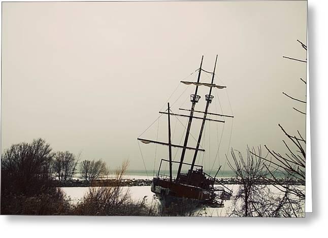 Jordan, Ontario, Canada A Tall Ship Greeting Card by Pete Stec