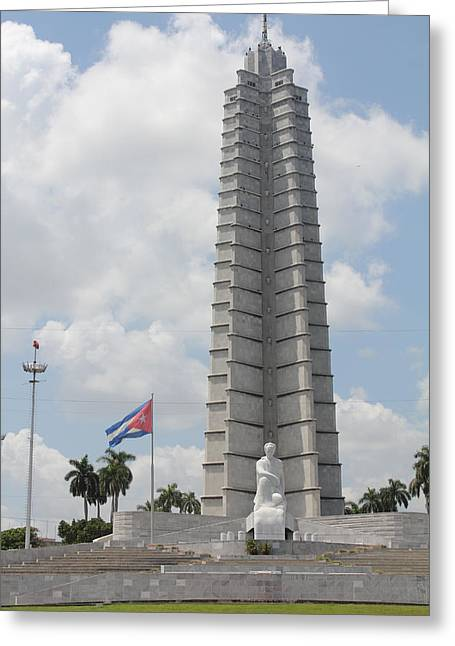Greeting Card featuring the photograph Jose Marti Memorial by David Grant