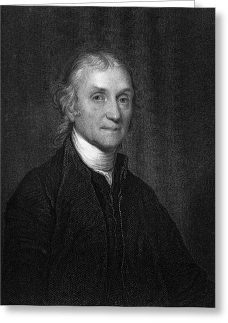 Joseph Priestley, English Chemist Greeting Card by Middle Temple Library